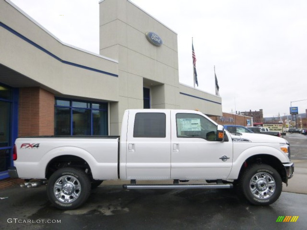 2015 white platinum ford f350 super duty lariat crew cab 4x4 100815945 car. Black Bedroom Furniture Sets. Home Design Ideas