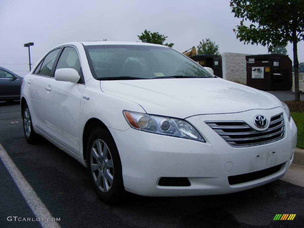 2007 Camry Hybrid Super White Ash Photo 2