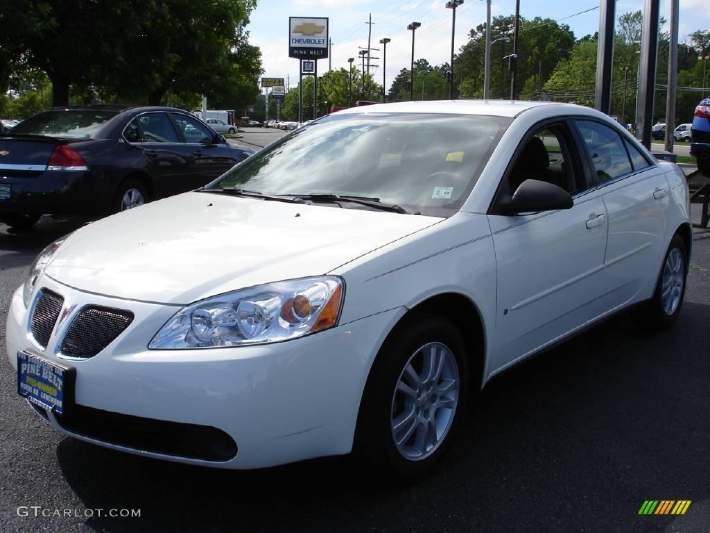 2006 Ivory White Pontiac G6 Sedan 10037897 Gtcarlot Com