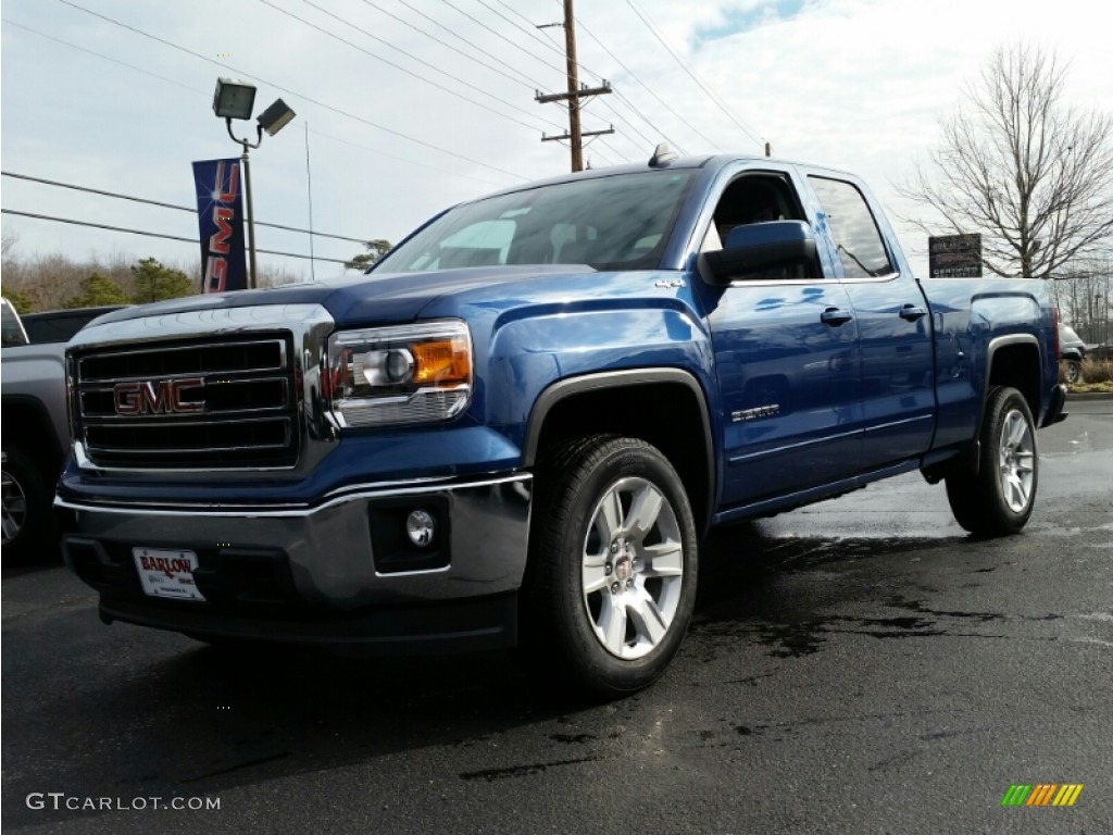 2015 stone blue metallic gmc sierra 1500 sle double cab. Black Bedroom Furniture Sets. Home Design Ideas