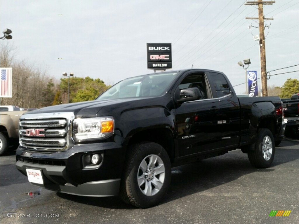 2015 onyx black gmc canyon sle extended cab 100841627 car color galleries. Black Bedroom Furniture Sets. Home Design Ideas
