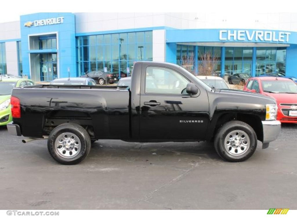 2013 Silverado 1500 Work Truck Regular Cab - Black / Dark Titanium photo #1