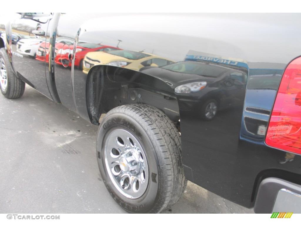 2013 Silverado 1500 Work Truck Regular Cab - Black / Dark Titanium photo #4