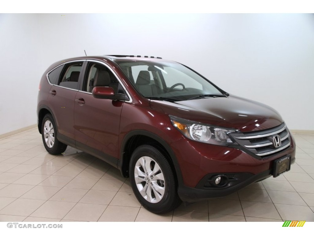 2012 CR-V EX 4WD - Basque Red Pearl II / Gray photo #1
