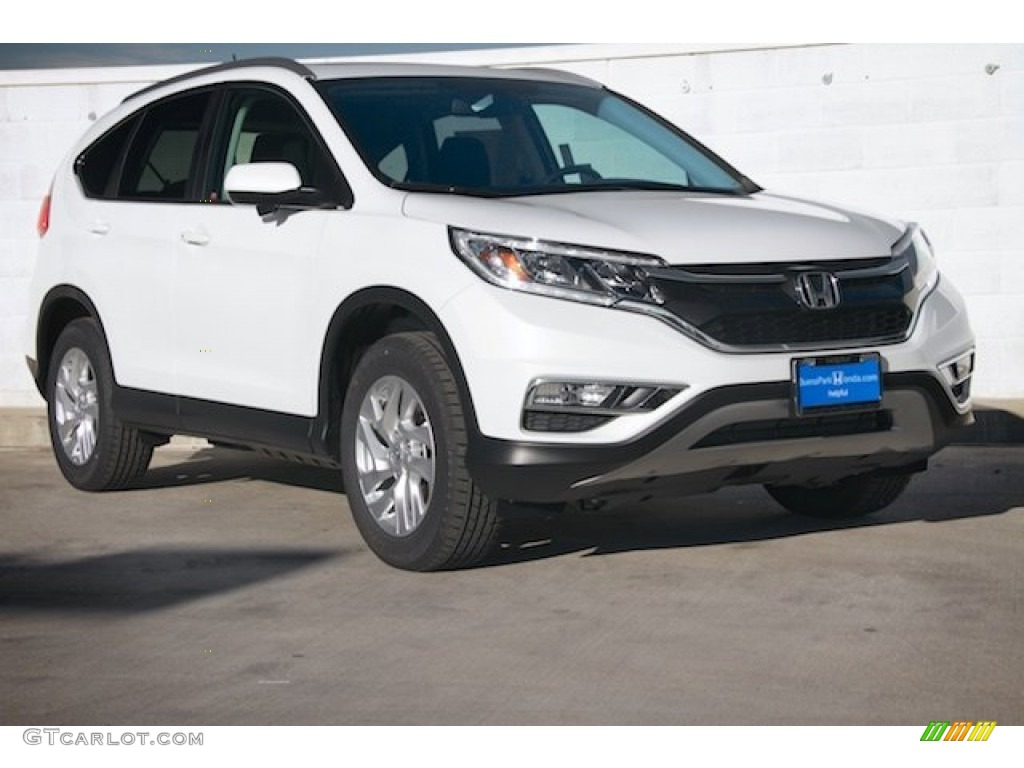 2015 CR-V EX-L - White Diamond Pearl / Black photo #1