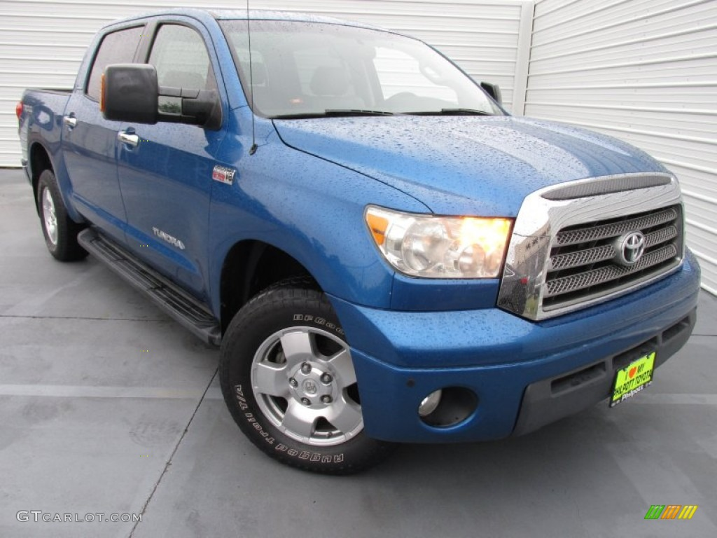 2007 Tundra Limited CrewMax 4x4 - Blue Streak Metallic / Graphite Gray photo #1
