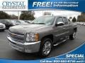 2013 Mocha Steel Metallic Chevrolet Silverado 1500 LT Extended Cab  photo #1