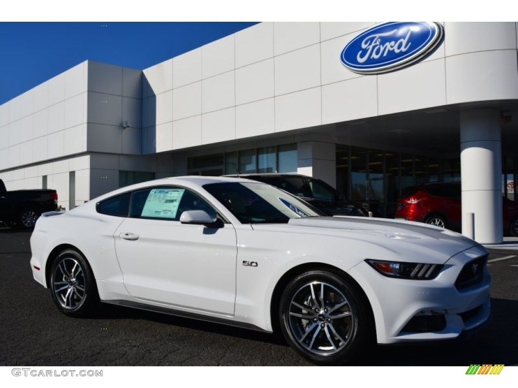 2015 Mustang GT Coupe - Oxford White / Ebony photo #1