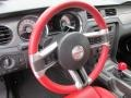 2012 Ford Mustang Brick Red/Cashmere Interior Steering Wheel Photo
