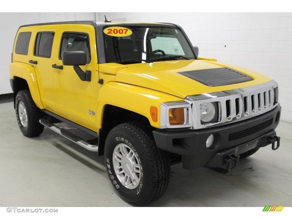 Hummer H3 Yellow