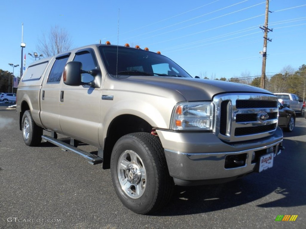 2007 arizona beige metallic ford f250 super duty lariat crew cab 4x4 101211546. Black Bedroom Furniture Sets. Home Design Ideas