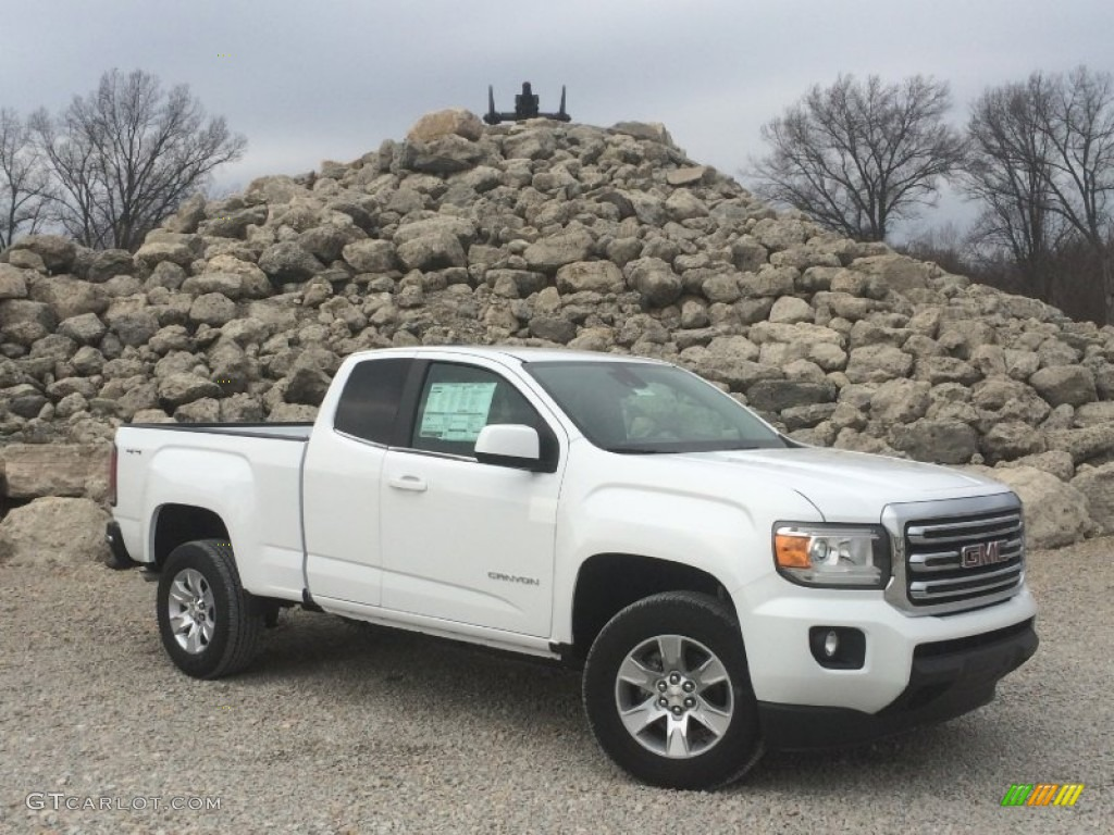 2015 summit white gmc canyon sle extended cab 4x4 101244512 car color galleries. Black Bedroom Furniture Sets. Home Design Ideas