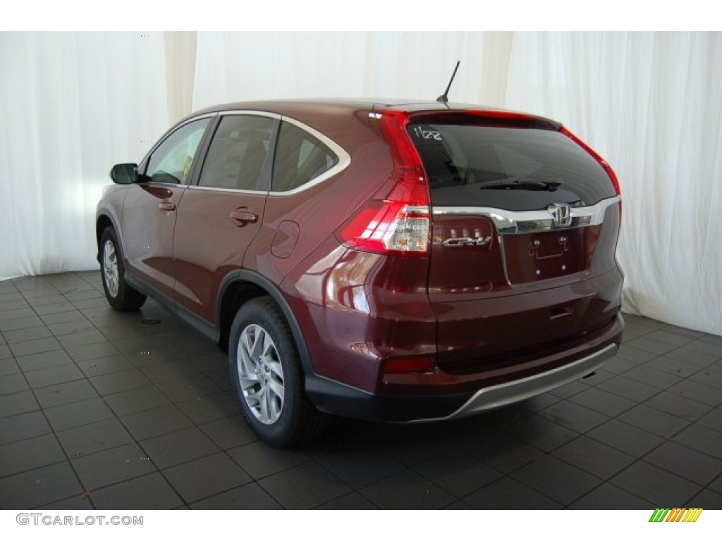 2015 CR-V EX - Basque Red Pearl II / Gray photo #7