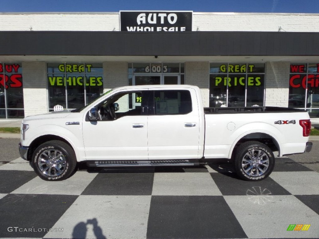 2015 White Platinum Tricoat Ford F150 Lariat SuperCrew 4x4