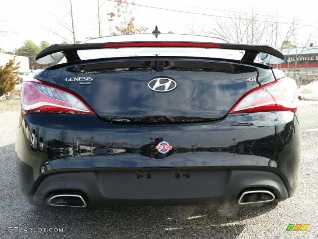 2013 Genesis Coupe 3.8 Track - Black Noir Pearl / Black Leather photo #8