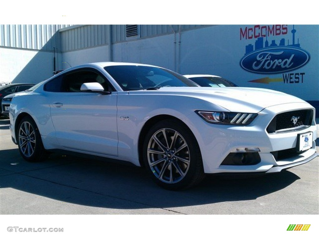 2015 Mustang GT Premium Coupe - Oxford White / Ebony photo #1