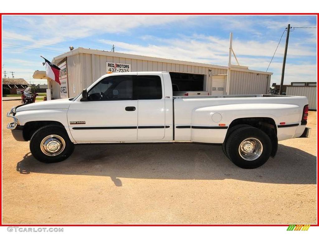 1998 Bright White Dodge Ram 3500 Laramie Slt Extended Cab