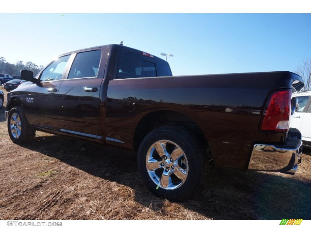 2015 1500 Big Horn Crew Cab 4x4 - Western Brown / Canyon Brown/Light Frost photo #2