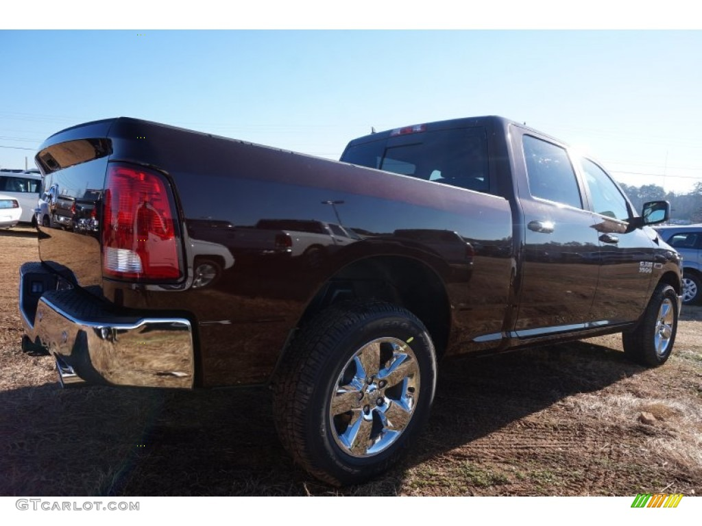 2015 1500 Big Horn Crew Cab 4x4 - Western Brown / Canyon Brown/Light Frost photo #3
