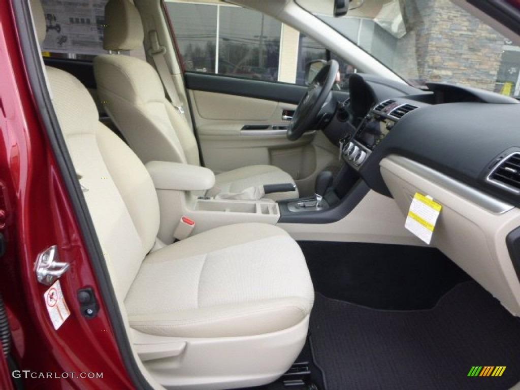 Ivory Interior 2015 Subaru XV Crosstrek 2.0i Premium Photo #101375502