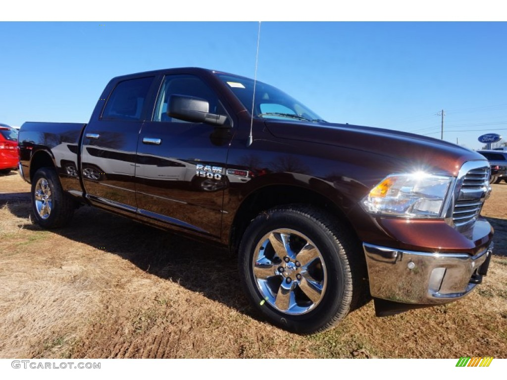 2015 1500 Big Horn Crew Cab 4x4 - Western Brown / Canyon Brown/Light Frost photo #4