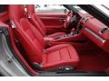 Carrera Red Natural Leather Front Seat Photo for 2013 Porsche Boxster #101490632