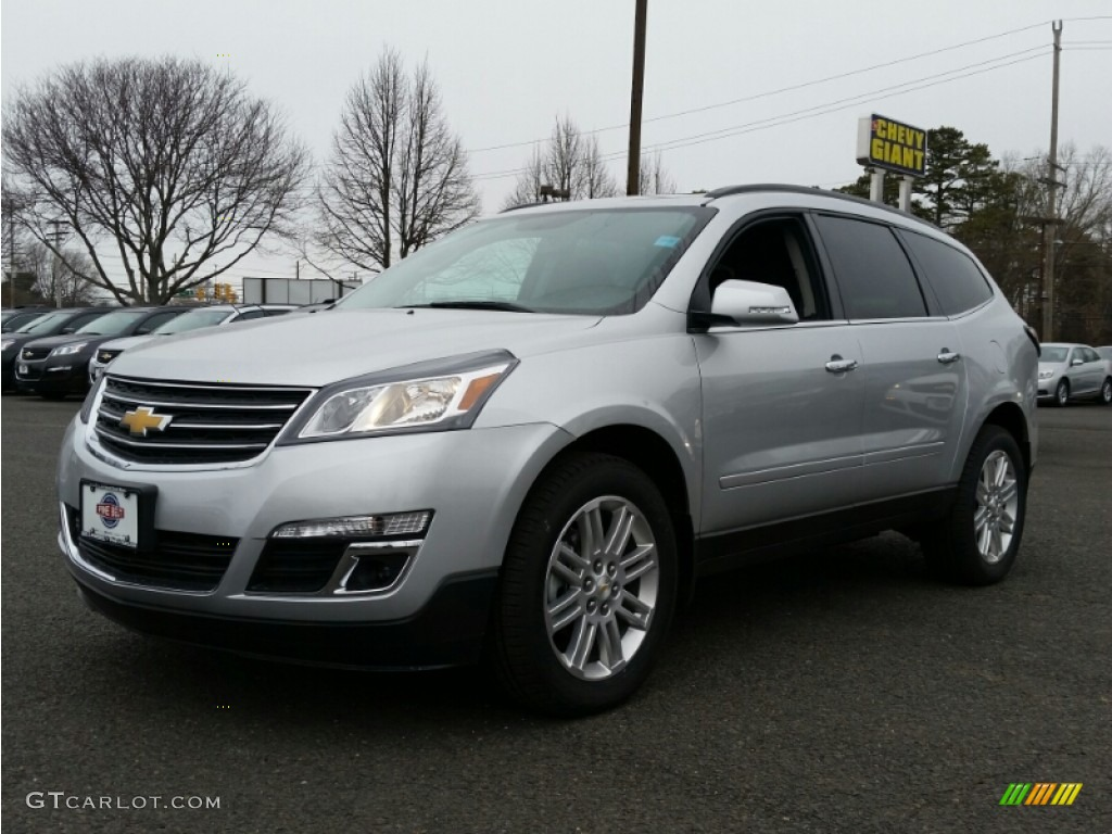 2015 silver ice metallic chevrolet traverse lt awd 101561697 car color galleries for Chevy traverse interior colors