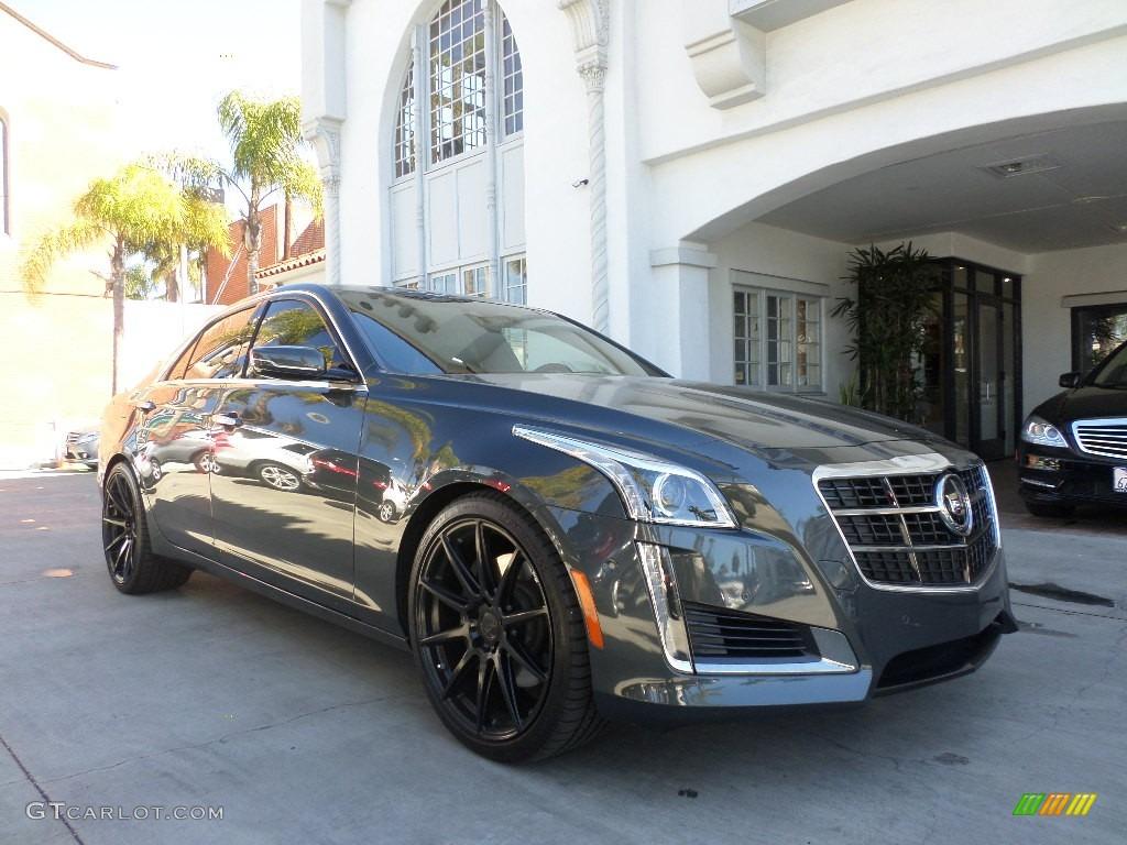 2014 phantom gray metallic cadillac cts vsport premium sedan 101567572 car. Black Bedroom Furniture Sets. Home Design Ideas