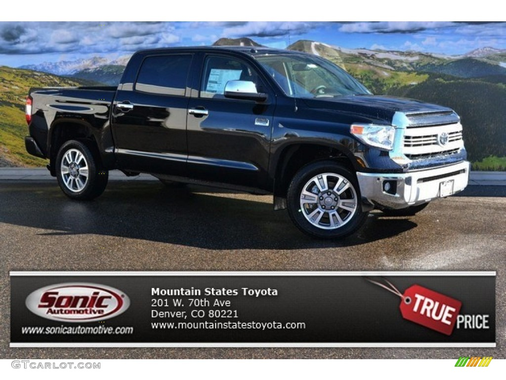 2015 Tundra 1794 Edition CrewMax 4x4 - Attitude Black Metallic / 1794 Edition Premium Brown Leather photo #1