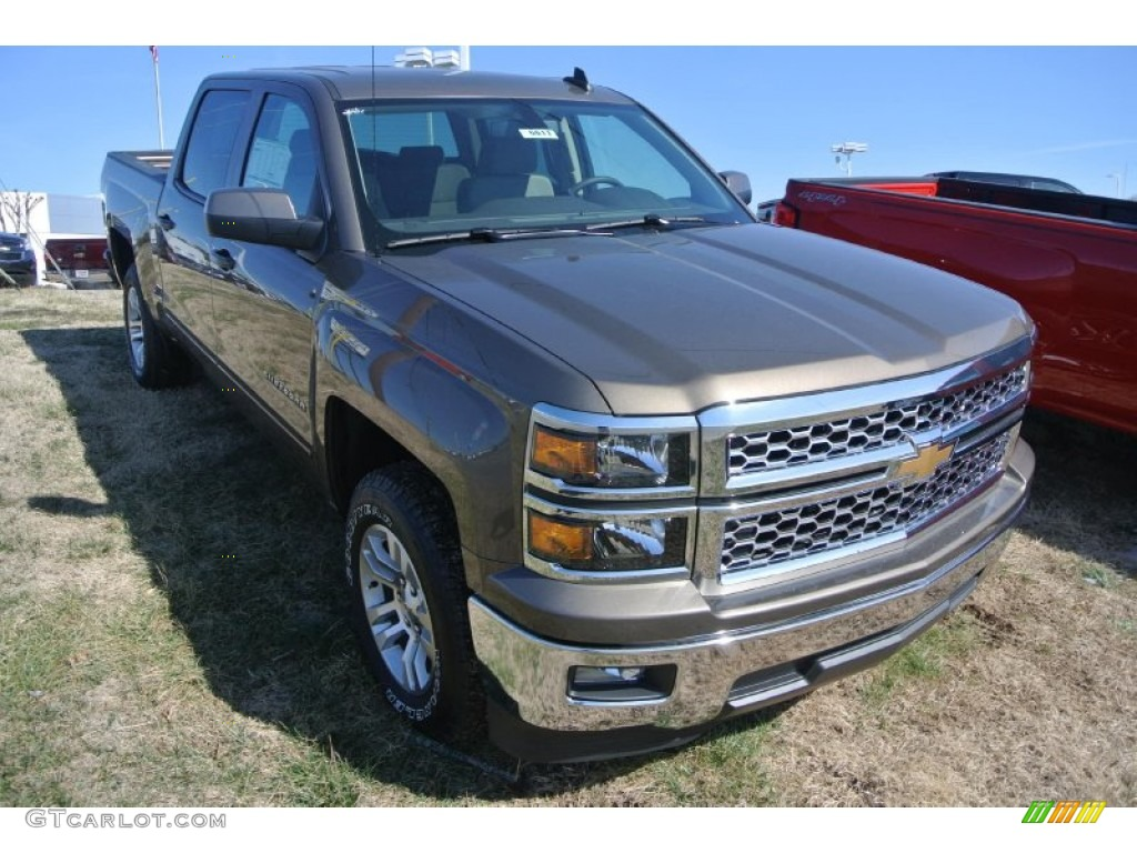 2015 brownstone metallic chevrolet silverado 1500 lt crew cab 101666578 car. Black Bedroom Furniture Sets. Home Design Ideas