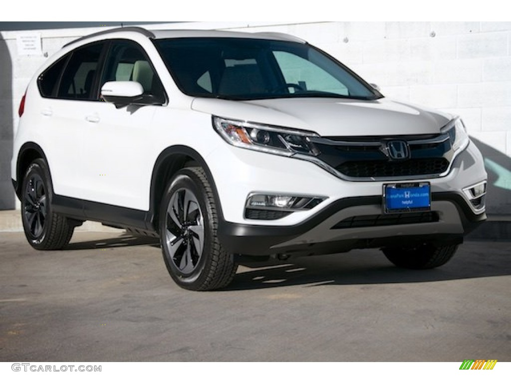 2015 CR-V Touring - White Diamond Pearl / Black photo #1