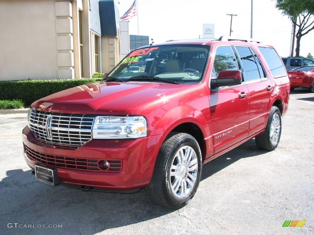 2007 Navigator Luxury - Vivid Red Metallic / Camel photo #3