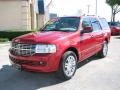 2007 Vivid Red Metallic Lincoln Navigator Luxury  photo #3