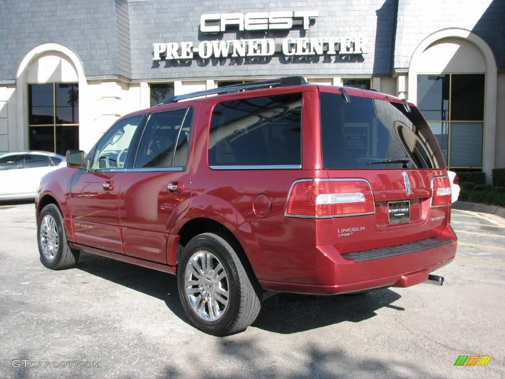 2007 Navigator Luxury - Vivid Red Metallic / Camel photo #5