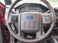 2015 Ford F250 Super Duty Platinum Pecan Interior Steering Wheel Photo