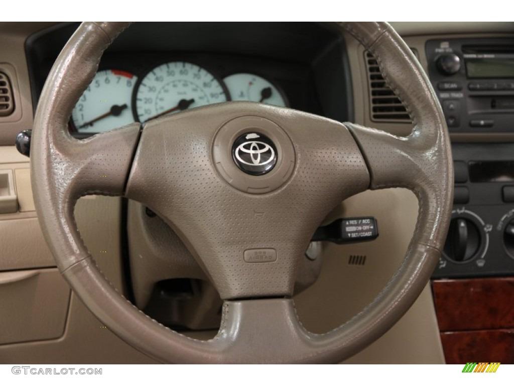 2004 Toyota Corolla Le Pebble Beige Steering Wheel Photo 101778412