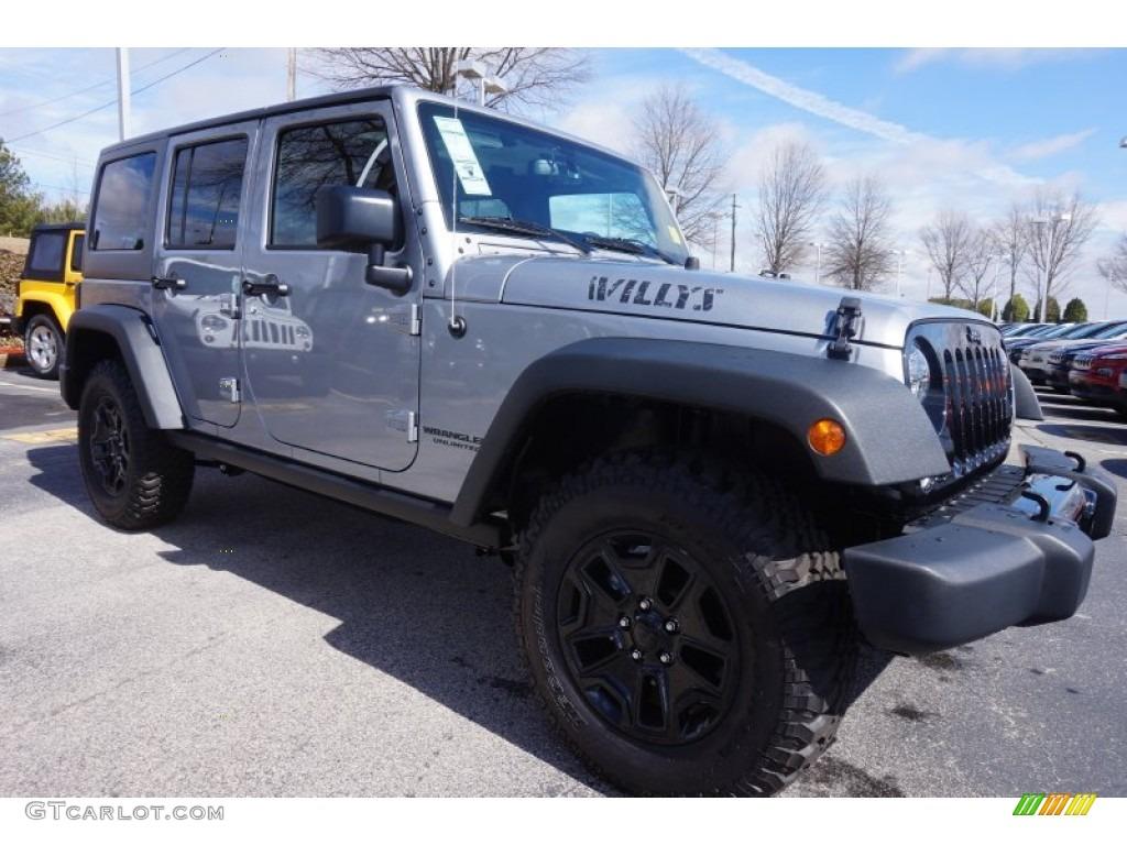 2015 billet silver metallic jeep wrangler unlimited willys. Black Bedroom Furniture Sets. Home Design Ideas