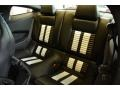 2014 Ford Mustang Shelby Charcoal Black/White Accents Recaro Sport Seats Interior Rear Seat Photo