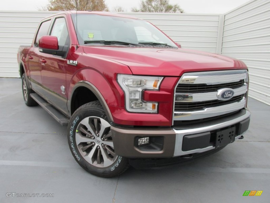 2015 ruby red metallic ford f150 king ranch supercrew 4x4 101826898 car color. Black Bedroom Furniture Sets. Home Design Ideas