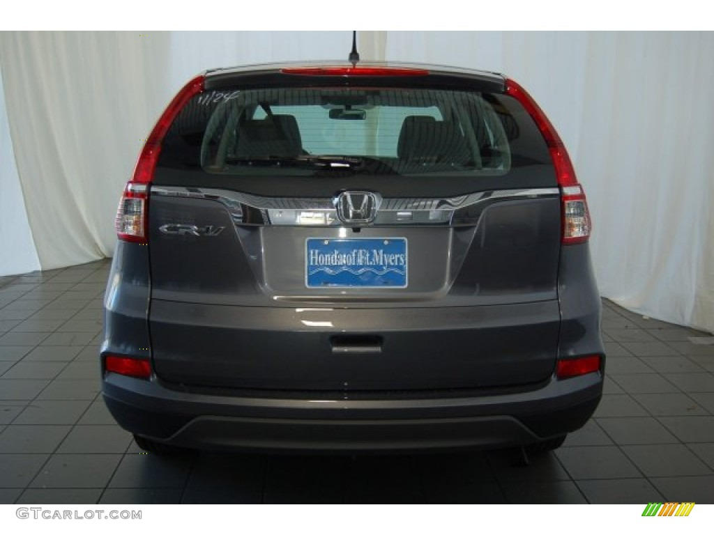 2015 CR-V LX - Modern Steel Metallic / Gray photo #6