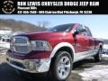 Deep Cherry Red Crystal Pearl 2015 Ram 1500 Laramie Quad Cab 4x4