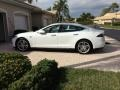 Pearl White Tesla Multi-Coat 2013 Tesla Model S P85 Performance