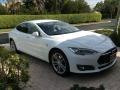 Pearl White Tesla Multi-Coat - Model S P85 Performance Photo No. 2