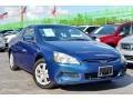 Sapphire Blue Pearl 2005 Honda Accord EX V6 Coupe