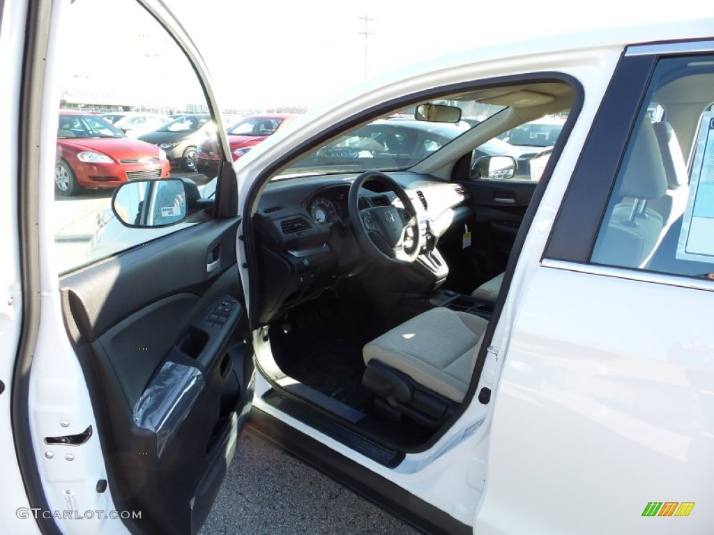 2015 CR-V LX AWD - White Diamond Pearl / Beige photo #9