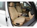 2015 BMW X3 Sand Beige Interior Front Seat Photo
