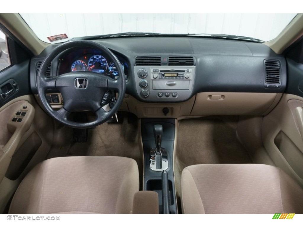 Beige Interior 2003 Honda Civic Hybrid Sedan Photo 101938103