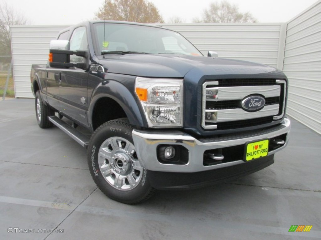 2015 F250 Super Duty King Ranch Crew Cab 4x4 - Blue Jeans / King Ranch Mesa Antique Affect/Black photo #1