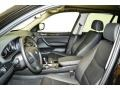 2012 BMW X3 Black Interior Front Seat Photo