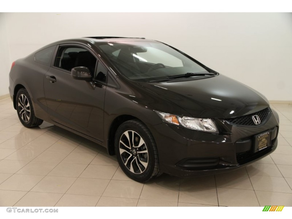 2013 kona coffee metallic honda civic ex coupe 101993930. Black Bedroom Furniture Sets. Home Design Ideas